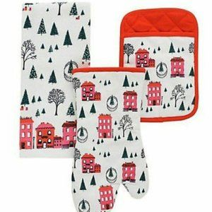 KATE SPADE Christmas Town Kitchen Towels- Set of 2